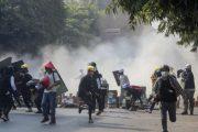 म्यानमारमा सुरक्षाफौजको गोली लागेर ३८ जना प्रदर्शनकारीको मृत्यु